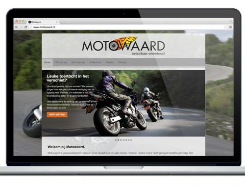 Website voor Motowaard in de maak